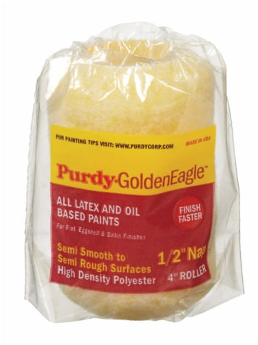 Purdy  Golden Eagle  Polyester  4 in. W x 1/2 in.  Paint Roller Cover  1 pk - Case Of: 1; Perspective: front