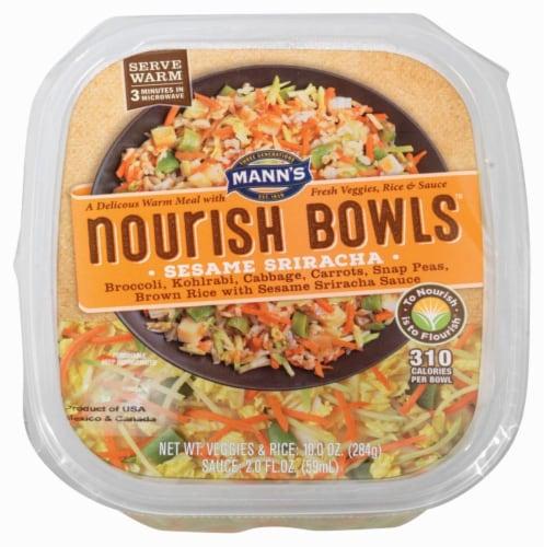 Mann's Nourish Bowls Sesame Sriracha Veggies & Rice Meal Perspective: front