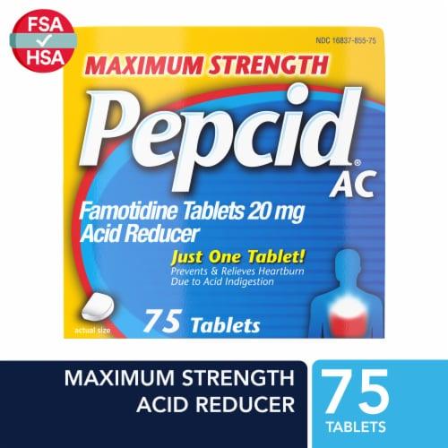 Pepcid AC Acid Reducer Tablets Perspective: front