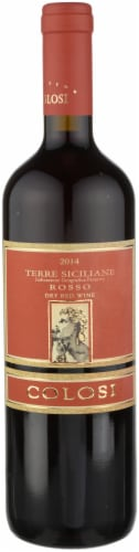Colosi Rosso Dry Red Wine Perspective: front