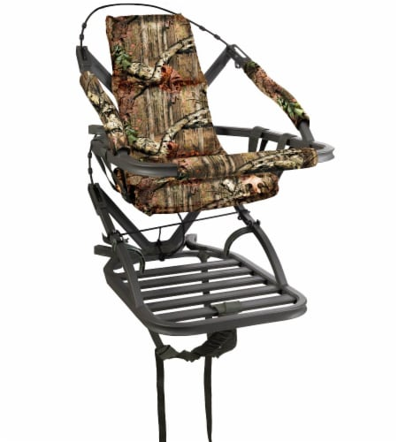 Summit Goliath SD 1 Person Climbing Treestand for Bow and Rifle Deer Hunting Perspective: front