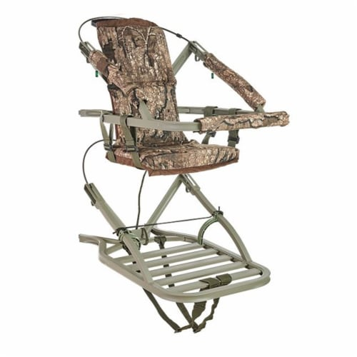 Summit Viper SD 81138 Self Climbing Tree Stand Hunting Gear, Realtree Timber Perspective: front