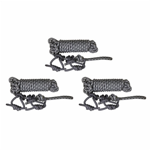 Summit SU83102 30 Foot Hunting Treestand Safety Line Rope System, Gray (3 Pack) Perspective: front