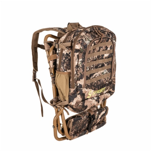 Summit Treestands Lightweight Hunting Compact Chairpack 2.5, Veil Whitetail Perspective: front