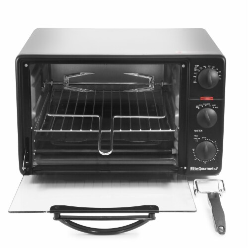 Elite Gourmet 5 Function Toaster Oven Broiler Perspective: front