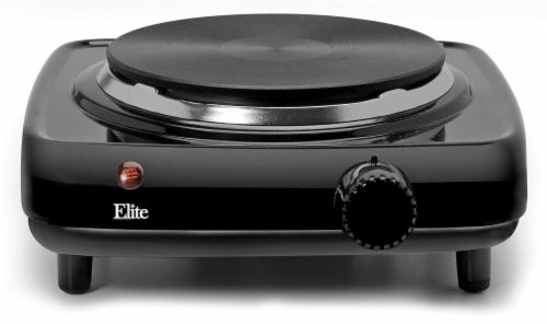 Elite by Maxi-Matic Single Electric Buffet Burner - Black Perspective: front