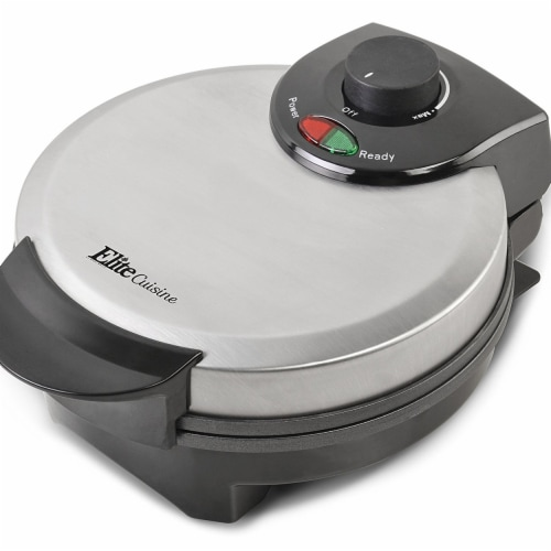 EMG EWM8200 Maximatic Non-Stick Belgian Waffle Baker, Silver Perspective: front