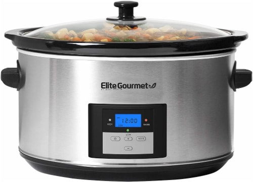 Elite by Maxi-Matic Stainless Steel Digital Slow Cooker Perspective: front