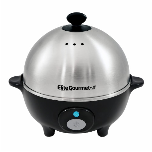 Elite EGC-508 Platinum Stainless Steel Automatic 7 Egg Cooker Perspective: front