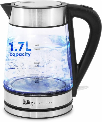 Elite by Maxi-Matic Stainless Steel Glass Kettle Perspective: front