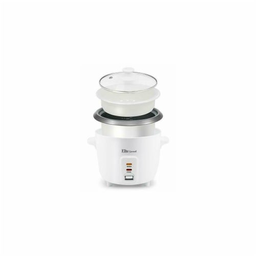 Maximatic ERC-006NST Elite Cup Non Stick Rice Cooker with Steam Tray Perspective: front