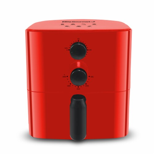 Elite Gourmet Compact Air Fryer - Red Perspective: front