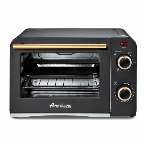 Americana Collection Retro 4 Slice Toaster Oven Perspective: front