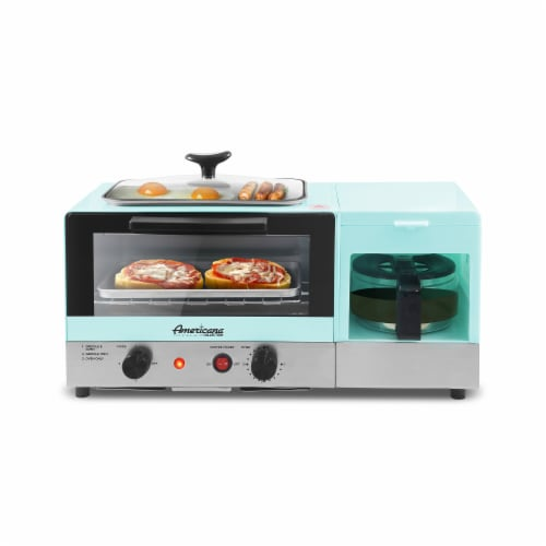 Americana by Elite 3-in-1 Multifunctional XL Breakfast Center - Blue Perspective: front