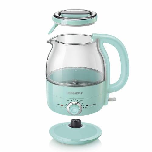 Elite Gourmet Electric Honeypot Glass Kettle - Mint Perspective: front