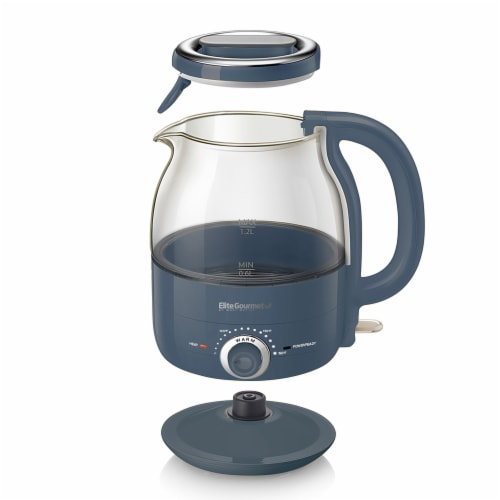 Elite Gourmet Electric Honeypot Glass Kettle Perspective: front