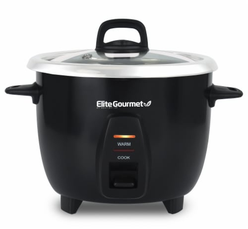 Elite Gourmet Rice Cooker with Stainless Steel Inner Pot Perspective: front