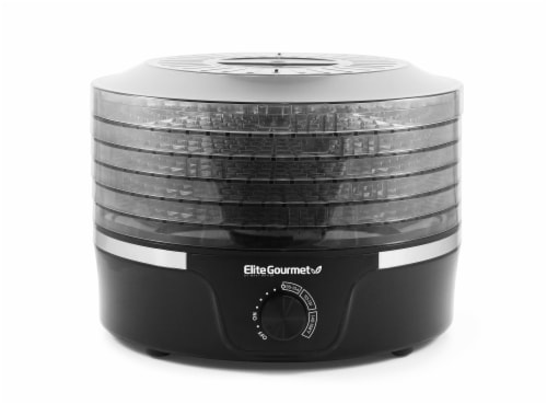 Elite Gourmet Food Dehydrator with Adjustable Temperature Dial Perspective: front