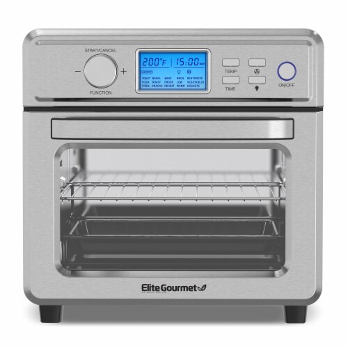 Elite Gourmet 21L Stainless Steel Digital Air Fryer Oven Perspective: front