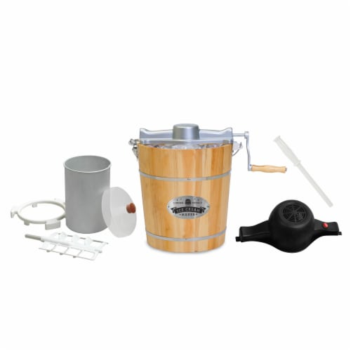 Elite Gourmet Old Fashioned Electric Ice Cream Maker Perspective: front