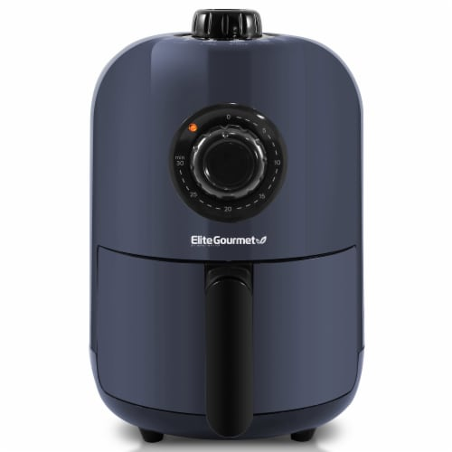 Elite Gourmet Compact Air Fryer - Slate Blue Perspective: front