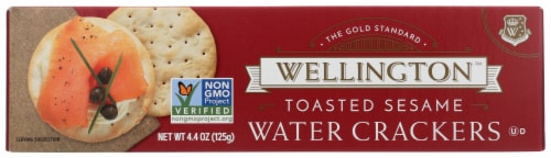 Wellington Toasted Sesame Water Crackers Perspective: front