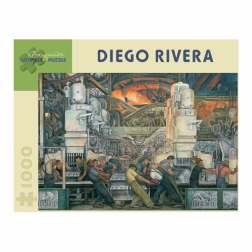 Pomegranate Communications Inc. Diego Rivera Detroit Industry Puzzle Perspective: front