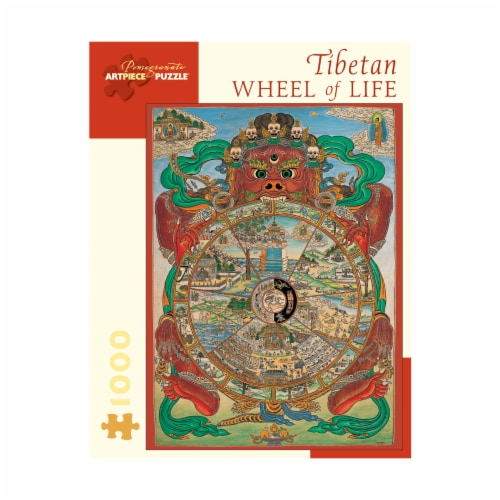 Pomegranate Communications Inc. Tibetan Wheel of Life Puzzle Perspective: front