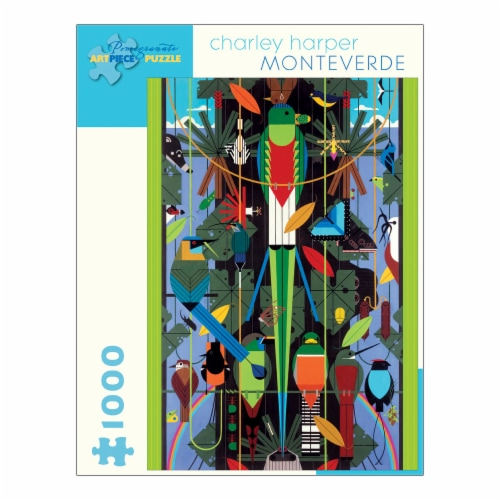 Pomegranate Communications Inc. Charley Harper Monteverde Puzzle Perspective: front