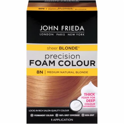 John Frieda Sheer Blonde 8N Medium Natural Blonde Precision Foam Hair Colour Perspective: front