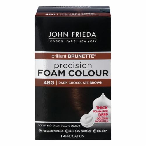 John Frieda Brilliant Brunette 4BG Dark Chocolate Brown Precision Foam Hair Color Perspective: front