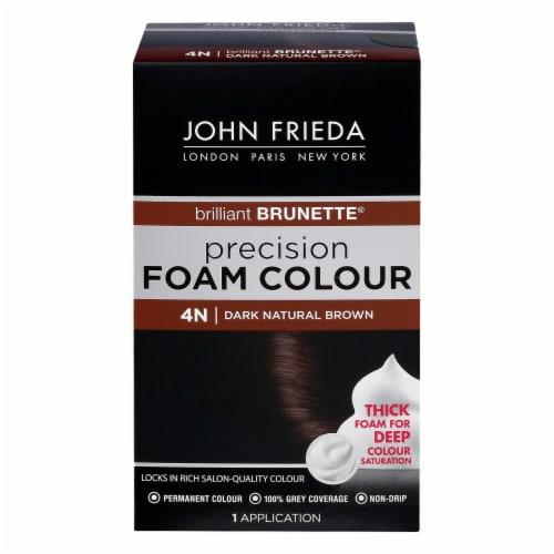 John Frieda Brilliant Brunette 4N Dark Natural Brown Precision Foam Hair Color Perspective: front