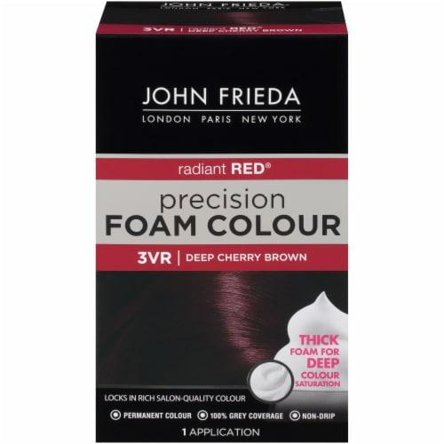 John Frieda 3VR Dark Cherry Brown Foam Hair Color Perspective: front