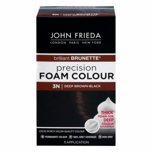 John Frieda 3N Deep Brown-Black Foam Hair Color Perspective: front