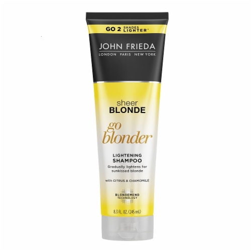 John Frieda Sheer Blonde Go Blonder Lightening Shampoo Perspective: front