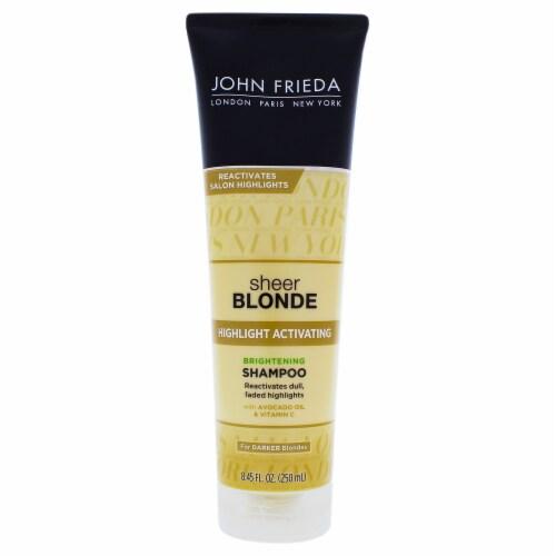 John Frieda Sheer Blonde Highlight Activating Enhancing Shampoo For Darker Blondes 8.45 oz Perspective: front