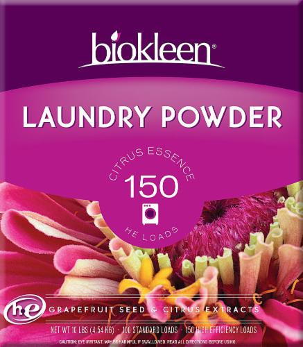Biokleen Grapefruit And Orange Laundry Powder Perspective: front