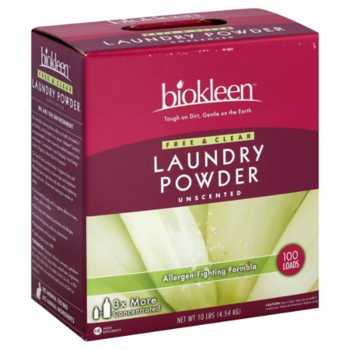 Biokleen Free And Clear Laundry Powder Perspective: front