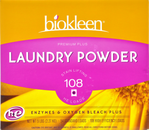 Biokleen Premium Plus Laundry Powder Perspective: front