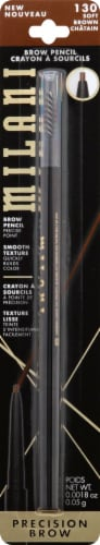Milani 130 Soft Brown Precision Brow Pencil Perspective: front
