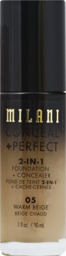 Milani Warm Beige Conceal + Perfect Foundation Concealer Perspective: front