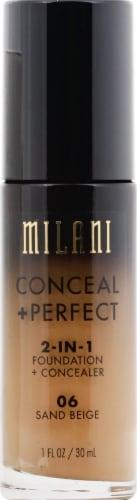 Milani 2-in-1 06 Sand Beige Foundation & Concealer Perspective: front