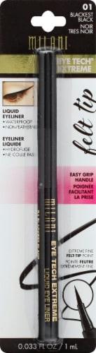 Milani Eye Tech Blackest Black Liquid Eye Liner Perspective: front