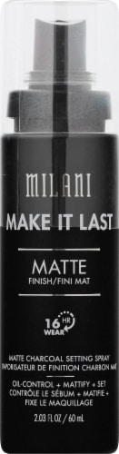 Milani Make It Last Matte Charcoal Setting Spray Perspective: front