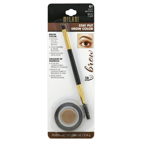 Milani Soft Brown Stay Put Brow Color Perspective: front