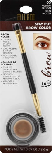 Milani 03 Medium Brown Stay Put Brow Color Perspective: front