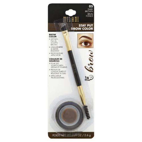Milani 05 Dark Brown Stay Put Brow Color Perspective: front