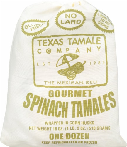Texas Tamale Company Spinach Tamales Perspective: front