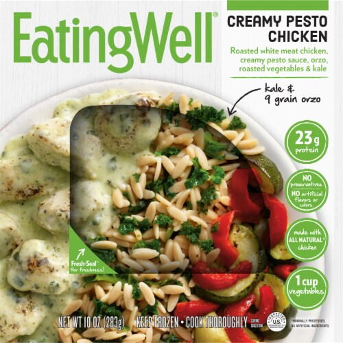 EatingWell Creamy Pesto Chicken Frozen Meal Perspective: front