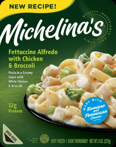 Michelina's Fettuccine Alfredo with Chicken & Broccoli Perspective: front